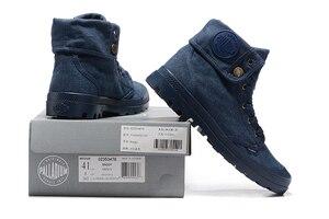 Image 2 - PALLADIUM Pallabrouse Zapatillas de tela vaquera para hombre, botines militares, informales, talla Europea 39 45, color azul