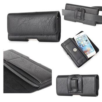 Para ZTE ZFive L LTE/Nubia Z17/Mini/2 prestigio/Hawkeye/Avid trío de cuero de la Pu de teléfono bolso de la cintura bolsa de la carpeta de la cubierta del Clip del cinturón
