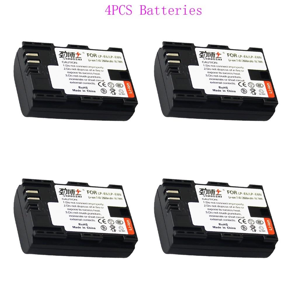 Digital Batterien Batterien KöStlich Heißer Verkauf 4x2600 Mah Lp-e6 Lpe6 Lp E6 Kamera Lithium-ionen Batterie Für Eos Für Canon 5d 6d 7d 60d 60da 70d 80d Dslr