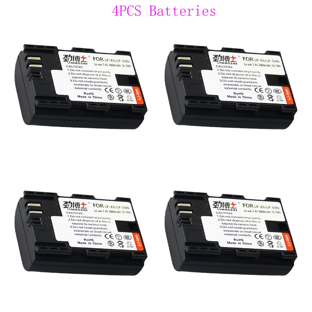 Batterien Stromquelle KöStlich Heißer Verkauf 4x2600 Mah Lp-e6 Lpe6 Lp E6 Kamera Lithium-ionen Batterie Für Eos Für Canon 5d 6d 7d 60d 60da 70d 80d Dslr