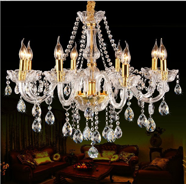 8 Light Crystal Chandelier: Free shipping 8 Lights Luxury k9 crystal Chandelier light for bedroom  Living dinning room Luxury Crystal,Lighting