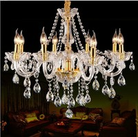 8 Lights Luxury K9 Crystal Chandelier Light For Bedroom Living Room Dinning Room Light Luxury Crystal