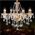 O envio gratuito de 8 Luzes de Luxo k9 Candelabro de cristal de luz para o quarto Sala de Estar sala de jantar iluminação lustre de Cristal de Luxo