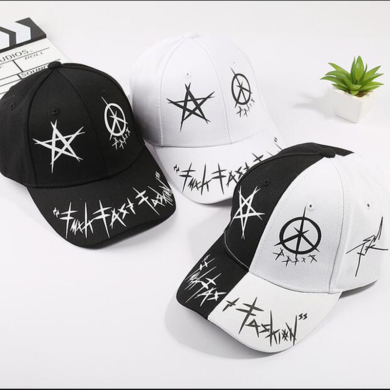 Korean Jimin Bingbang   Baseball     Cap   Hip Hop Streetwear Rapper Daft Punk Graffiti Printing Casual Adjustable Sport Dad Hat   Cap