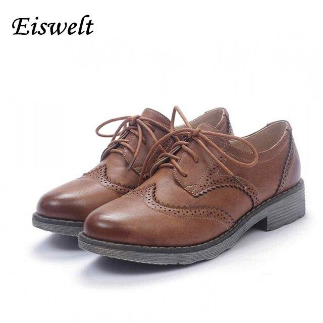 Оксфорд Обувь Для Женщин Квартиры 2017 Мода Brogue Оксфорд Женская Обувь Мокасины Sapatos Femininos Sapatilhas Zapatos Mujer # WYL1