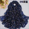 Brand Hot Sale chiffon scarf sunsreen cape beach towel polka dot polka dot silk scarf