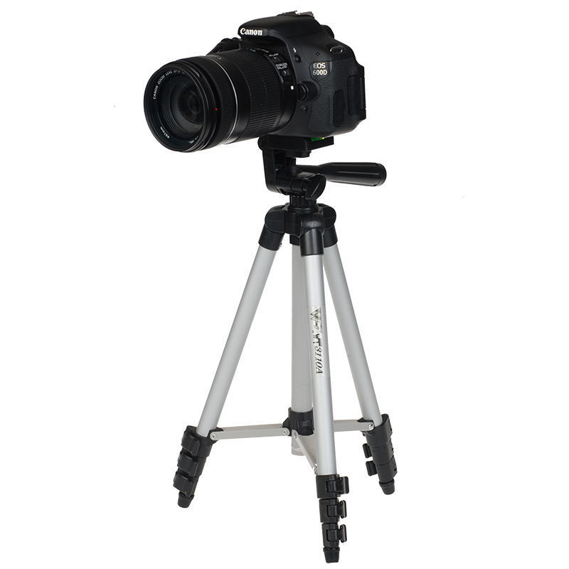 WT3110A პროფესიონალური კამერის Tripod for Canon EOS Rebel T2i T3i T4i და Nikon D7100 D90 D3100 DSLR კამერა