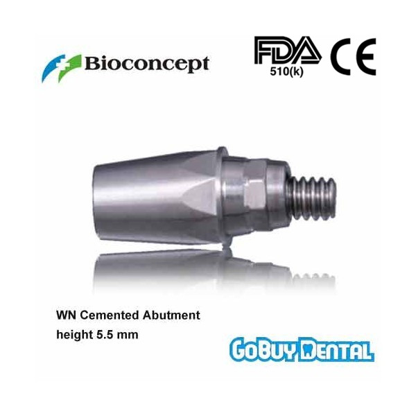все цены на Straumann Compatible WN Cemented Abutment height 5.5mm(Wide Neck) онлайн