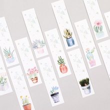 30pcs/box Creative plant Bookmarks Marker Stationery Gift Realistic Kawaii Cartoon Bookmark Office School Supply