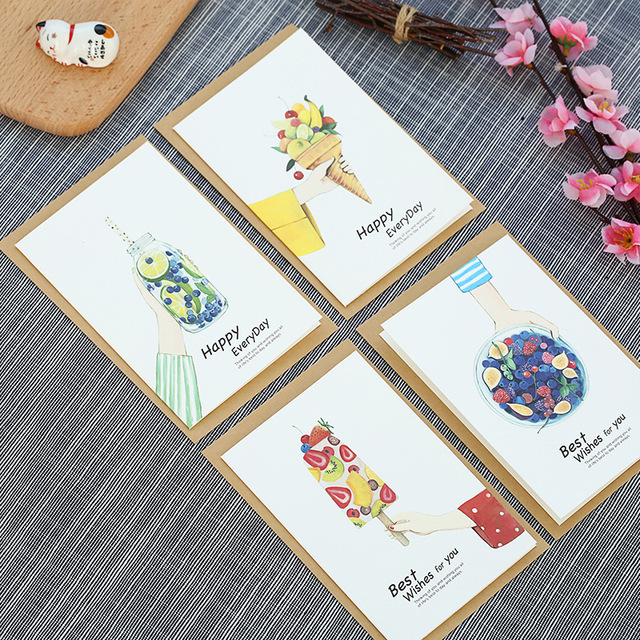 10set ice dessert Card leave message cards Lucky Love valentine