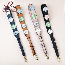 Модный дизайн, цветные цветы, 4 цвета, женская сумка, аксессуары, ремень через плечо, Женская длинная сумка на ремне, запчасти