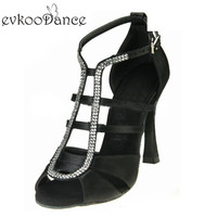 New Style Zapatos De Baile Comfortable Satin Latin Dance Shoes Women 10 Cm High Heel Size