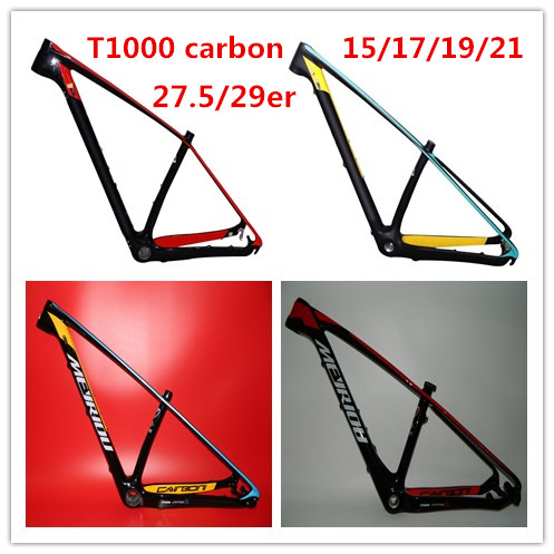 7 days delivery time hot sell super light 2016 t1000 carbon mtb frame 29er carbon mountain bike frameset special 15 171921