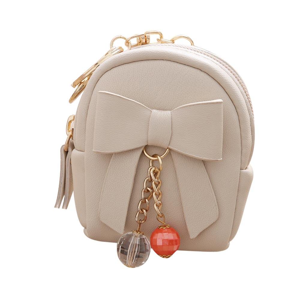 Able Women Bow Zipper Key Bag Short Wallet Coin Purse Card Holders Handbag Cute Wallet Coin Purses & Holders Luggage & Bags