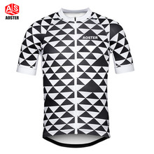цена на AOSTER Men Team Ropa Ciclismo Riding Outfit Bicycle Wear Cycling Jersey Bike Short Sleeve Bike Tops Breathable Cycling Clothing