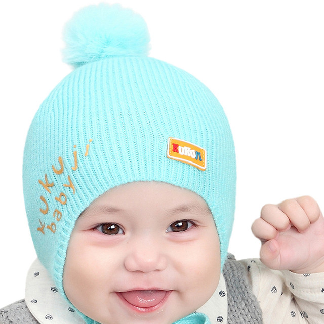 Muqgew newborn photography baby boys girls kids beanie letter cotton hat children knitting hats cap gorro