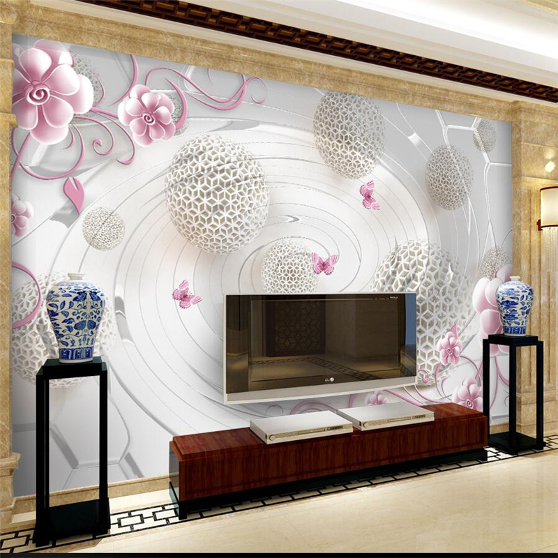 ФОТО beibehang Custom large fresco wallpaper 3d stereo relief space flower decoration wallpaper living room background wall paper
