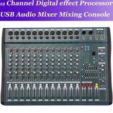 MiCWL 12 Canal Mixing Console Mixer De Áudio Processador de efeitos digitais de mistura Do Console de mixagem de áudio