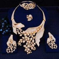 GODKI Luxury Poppy Flower African Necklace Earring Set Jewelry Sets For Women Wedding Zircon CZ Dubai Silver Bridal jewelry Sets