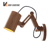 Oak Modern wooden Wall Lamp Lights For Bedroom Home Lighting,Wall Sconce solid wooden wall light Free Shipping
