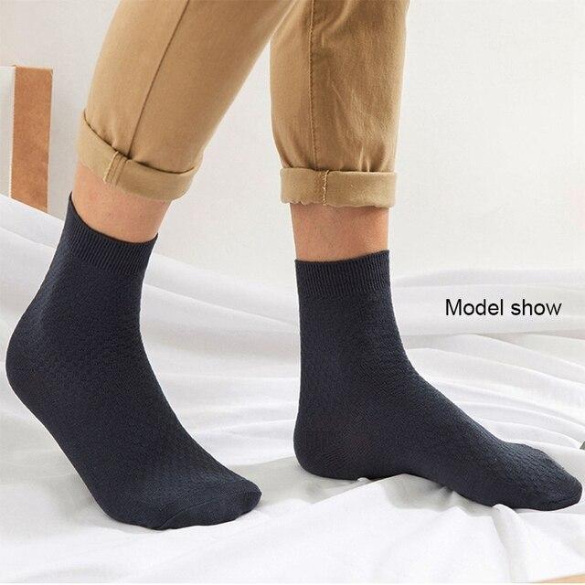 10 Pairs/Lot Men Bamboo Fiber Socks Casual Socks For Gift Plus Size 43-46 3