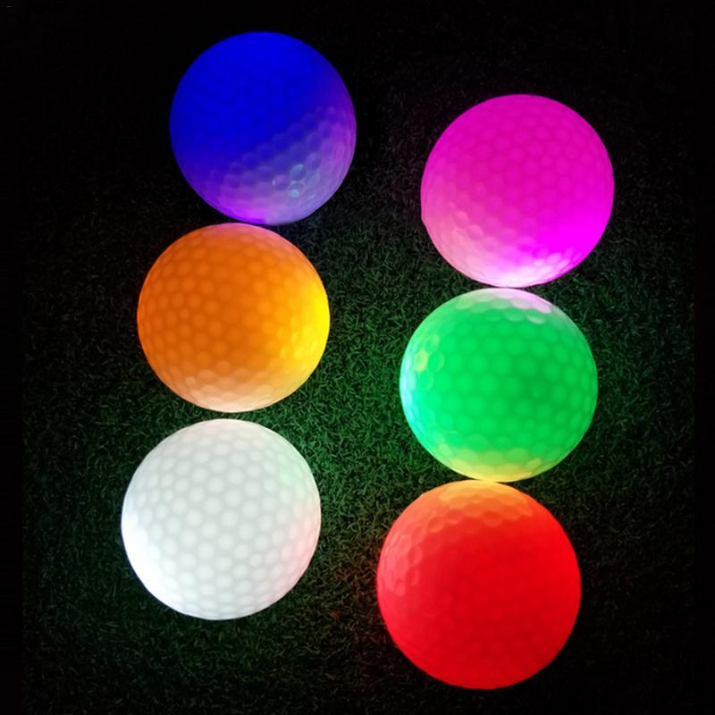 Night LED Golf Indoor Outdoor Light-emitting Electronic Golf Ball Reusable Multi-color Optional Accept Wholesale