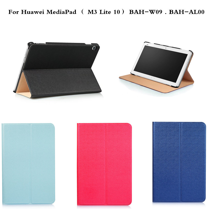 Luxury PU Leather Business Case Slim Stand Cover For Huawei MediaPad  M3 Lite 10 BAH-W09 BAH-AL00 10.1'' Tablet Multiangle Style luxury pu leather case cover for huawei mediapad m3 lite 8 0 cpn w09 cpn al00 8 tablet flip wallet stand cover with card slots
