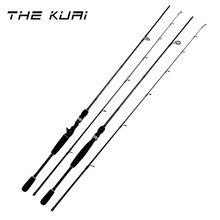 THEKUAI Ultra-Light Carbon Telescopic Fishing Rod Spinning M Power 1.65M/1.8M/2.1M/2.4M/M Hand Tackle Lure