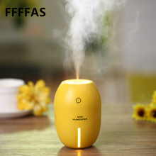 FFFAS Fashion Portable Lemon USB Air Humidifier LED Light Air Purifier Mist Sprayer Maker Home Office Car PC USB Gadgets Spray