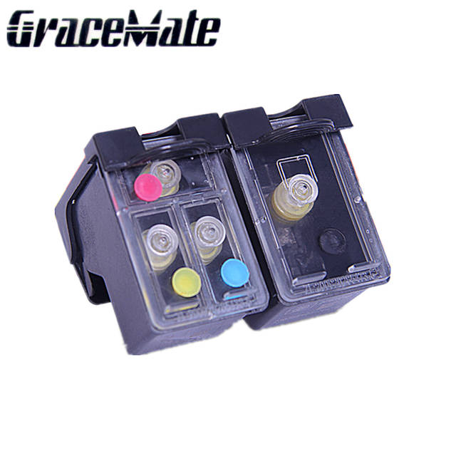 Replacement For HP 62 refillable ink cartridge For Envy 5640 5660 7640 5540  5544 5545 5546 5548 Officejet 5740 5741 5742 5743