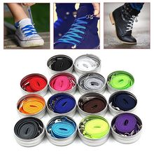 100cm 7 Colors No Tie Lazy Quick Shoelces For Chidren and Adults One Hand Laces Sport Flat Athelic Casual Shoes 1 Pair