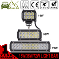 "XuanBa Mini 4"" inch 18W Led Light Bar For Motorcycle 4x4 Offroad Work Lamp Truck 4WD SUV ATV Auto DRL 12V 36W Off road Bar Light"