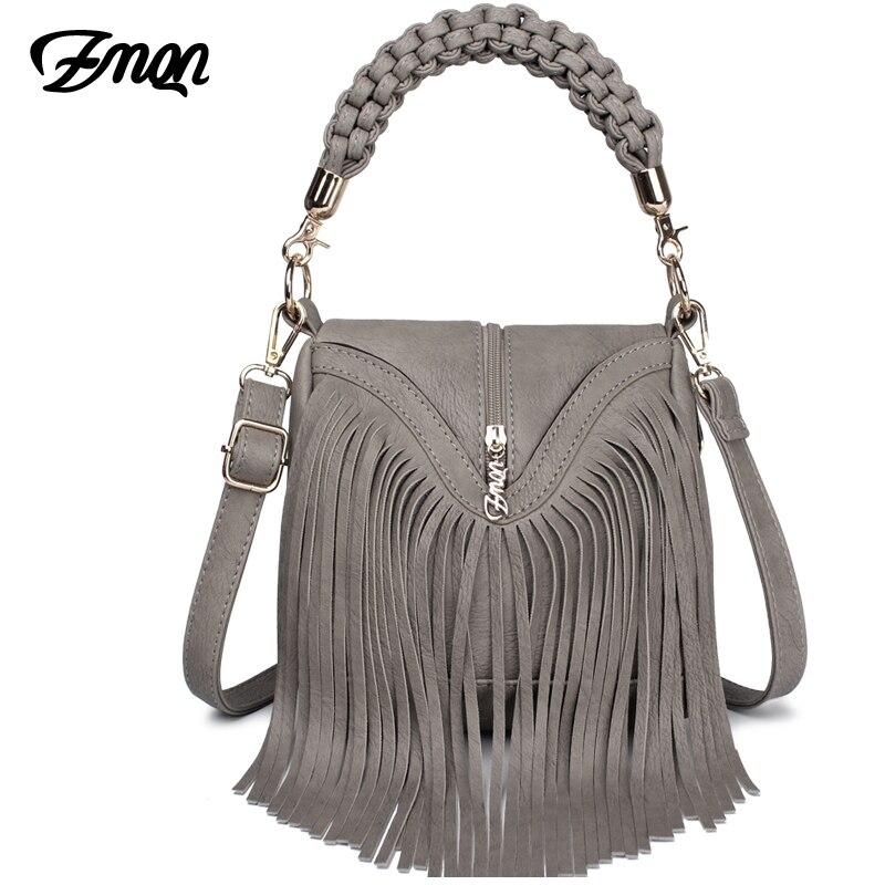 ZMQN Women Messenger Bags 2020 Leather Handbags Tassel Famous Brand For Ladies Retro Vintage Crossbody Bags Small Triangle A527|handbag tassel|brand leather handbagleather handbags - AliExpress