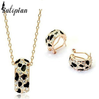 Italina Valentine S Day Gift 18K Rose Gold Plated Elegant Jewelry Set With Austrian Crystal Stellux