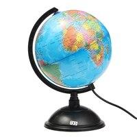 New LED World Map World Globe Rotating Swivel Map Of Earth Geography Globe Figurines Ornaments Birthday