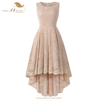 SISHION 11 цветов Формальное женское платье без рукавов сексуальное короткое спереди длинное сзади черный белый красный синий серый элегантное...