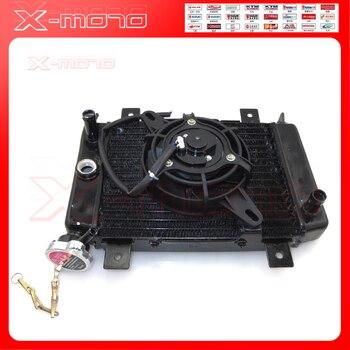 Marca nueva 150cc 200cc 250cc de agua de refrigeracion del radiador refrigerador y ventilador para Quad ATV 4x4