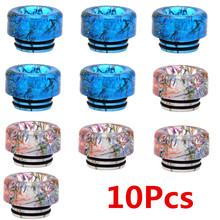 10pcs/lot Epoxy Resin Drip Tip 810 E Cigarettes Accessory Round Style Vape Mouthpiece for Rda Rta Atomizer Wide Bore Rainbow