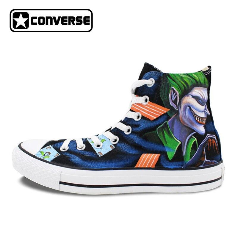 cd0fd6c5d2a1 Original Converse All Star Women Men Shoes Joker Harley Quinn Design Hand  Painted Shoes Man Woman