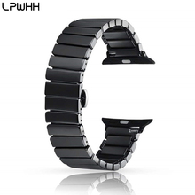LPWHH New Arrival Ceramic Watchband Strap Metal Buckle For Apple Watch Bands 42mm 38mm Series 3 2 1 4 Iwatch Band Wrist Bands