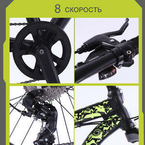Image 3 - wolfs fang Bicycle Mountain Bike bmx 8 speed Bikes Fat bike mtb road  bikes 26*4.0 Snow Bicycles free shipping