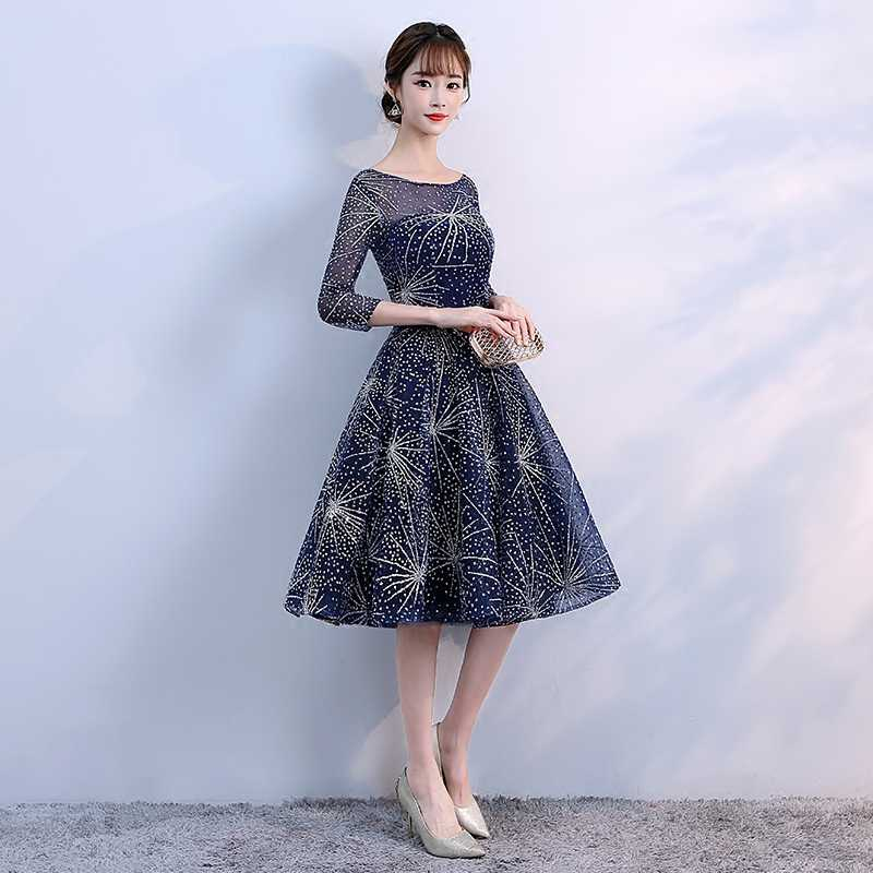 6bfd96a32a3 ... New arrival Elegant Sweetheart Short Prom Dresses 2018 New Navy Blue Homecoming  Dresses Semi Formal Dresses ...