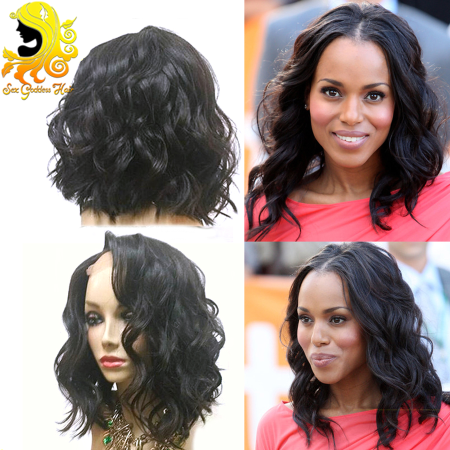 Unprocessed Brazilian Virgin Hair U Part Wigs For Balck