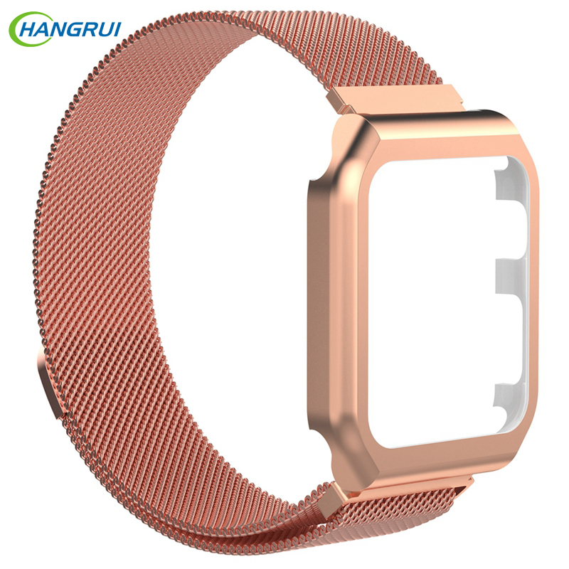 Hangrui Watch Strap For Apple Watch band 42mm 38mm for Applewatch 3 2 1 Wrist Band Stainless Steel Bracelet Link Milanese magnet