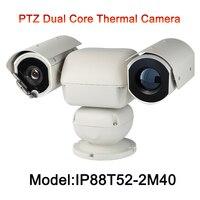 Cámara de 2MP HD IP 1080 p 40x Zoom visible fuente de luz dual 5 km larga distancia temperatura humana térmica coche cámara de imagen