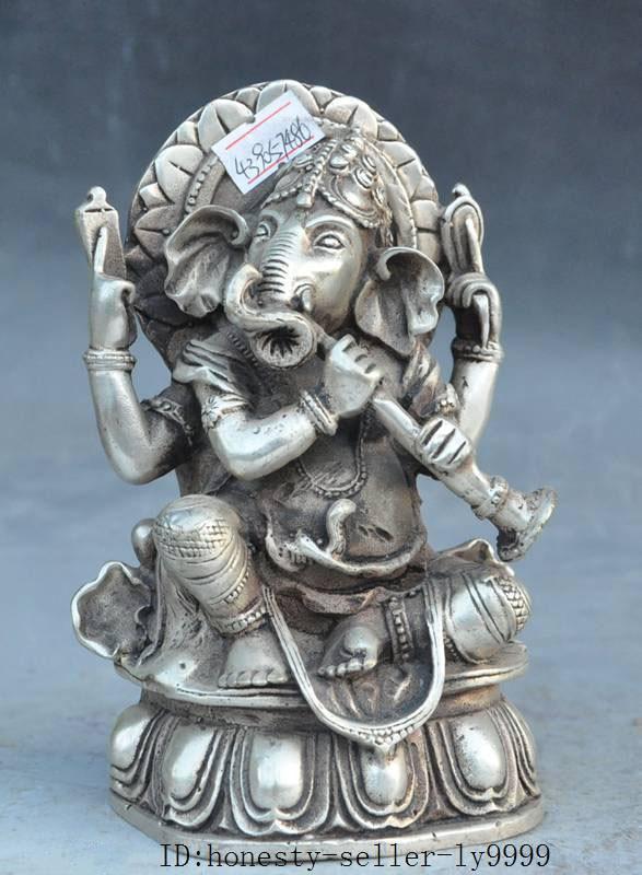Natale vecchio tibetano buddismo fane argento ricchezza Elephant Jambhala Mammona statua di buddha halloweenNatale vecchio tibetano buddismo fane argento ricchezza Elephant Jambhala Mammona statua di buddha halloween