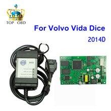 Лучшее Качество Для Volvo Vida Dice 2014D Полный Чип OBD2 Диагностический инструмент Vida Dice Pro Для Volvo С Зеленым ПЕЧАТНОЙ ПЛАТЫ Бесплатный корабль
