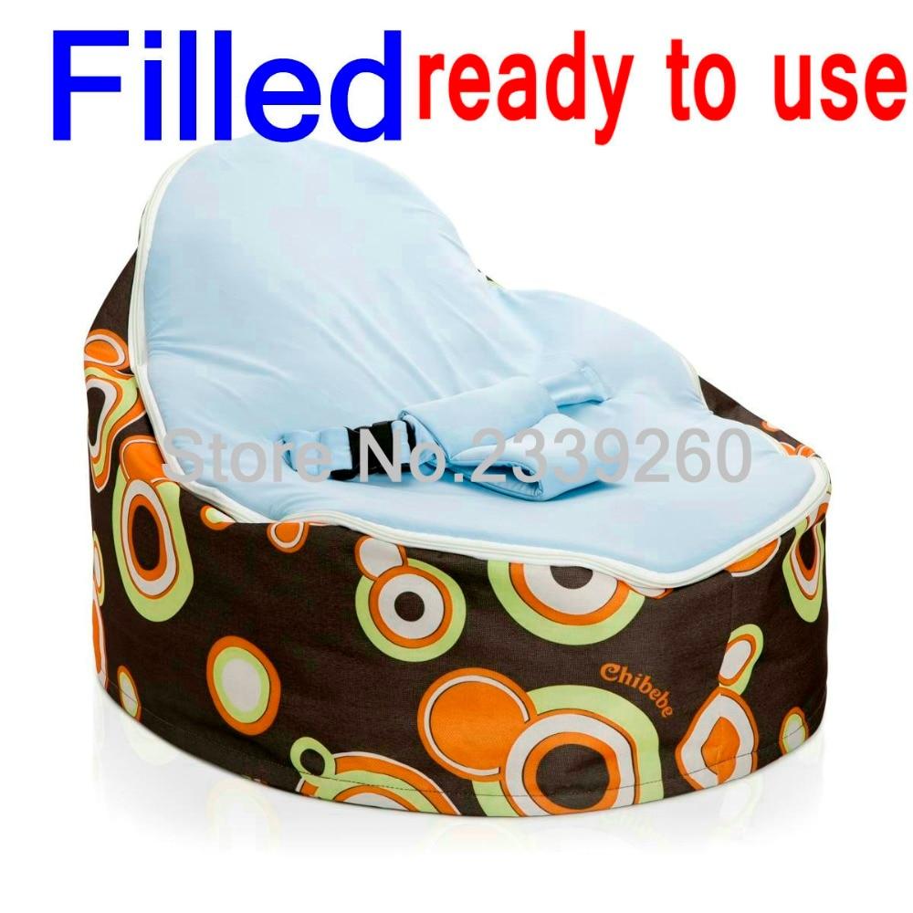 Baby bean bag chair - Cheap Baby Bean Bag Children Sofa Chair Soft Snuggle Bed With Fillings Original Chibebe Baby Beanbag Chair