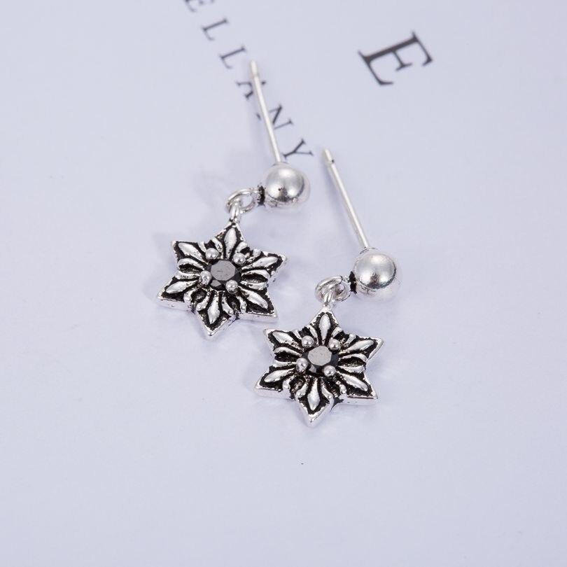 yiustar New Fashion Star Stud Earring Jewelry Retro Hexagonal Star Women & Men Earings SYED164