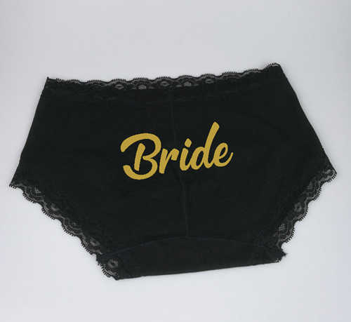 ae748f1153a ... C Fung deisgn bride sexy lace panties WIFEY boyshorts MRS team bride  underwear bridal bachelorette party personalized ...